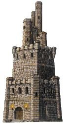 Jointed Castle Tower Party Accessory (1 count) -