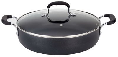 T-Fal/Wearever A8428484 Everyday Pan, Covered, Non-Stick, Black, 12-In.