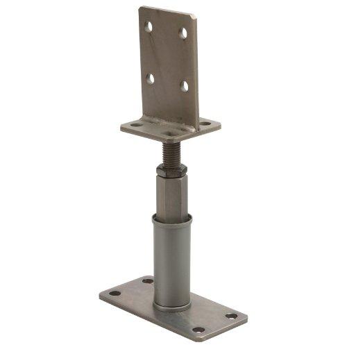 Sanifri 470018090 2 St/ück St/ützenschuh Edelstahl-Optik H/öhenverstellbar mit Schwert