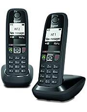 Gigaset: AS470 Duo - Téléphone fixe sans fil - 2 combinés - Noir
