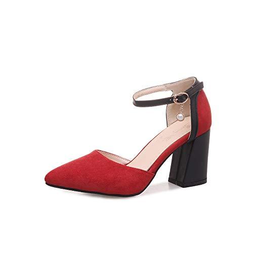 Con Las Raíces Alto De Gules Ante Cónico Puntas Cuadradas Y En Zapatos Tacón Sandalias Romanas Para Magicxle Mujer EOvqnnYwxd