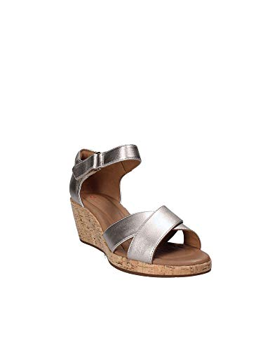 Nations Wide Plaza Clarks Wedge Or Croix Sandals fit Womens dIfIxqU