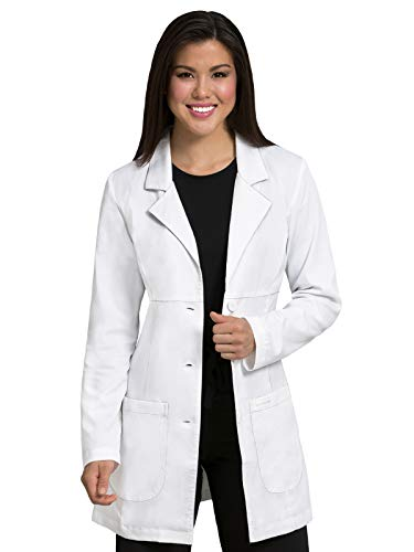 Med Couture Professional Women's Empire Mid-Length Lab Coat White 2XL