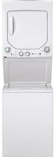 GE GUD24ESSMWW 24 Inch Electric Laundry Center with 2.3 cu. ft. Washer Capacity, in White