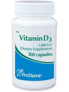 ProThera - Vitamin D3 1000 IU - 100 Vegetarian Capsules