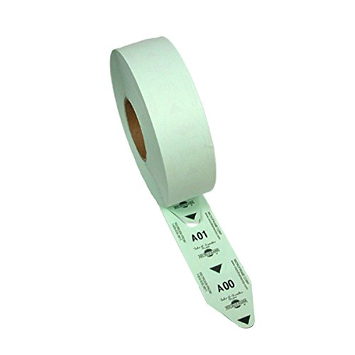 (1 Roll of 2-Digit Turn-O-Matic T80 Green Take a Number Tickets for D80 Ticket Dispenser - 3000 / roll)