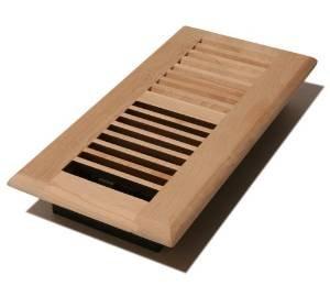 V412 um 4 inch by 12 inch wood louver floor register for 6x12 wood floor register