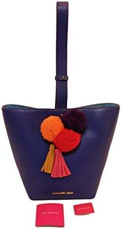 samantha vega(サマンサベガ) ボンボン付き レザーショルダーバッグ ブルー 新品未使用 セール [中古] 販売枠で出品中