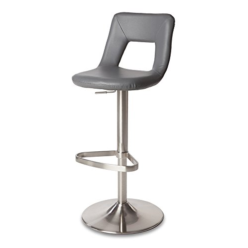 Zuri Furniture Slate Jazz Adjustable Height Swivel Armless Bar Stool