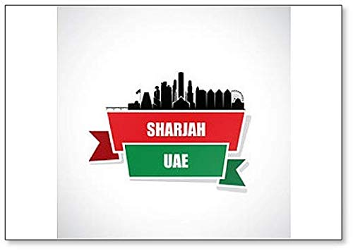 Sharjah United Arab Emirates - United Arab Emirates, Sharjah Skyline - Classic Fridge Magnet