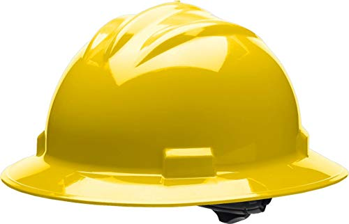 Bullard Standard Full Brim Hard Hat with 4 Pt Ratchet Suspension, ()