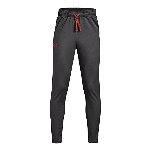 Under Armour Kids Boy's Brawler Tapered Pants (Big Kids) Charcoal/Radio Red Small