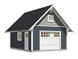 Garage plans 1 car craftsman style garage for 20 x 24 garage plans with loft
