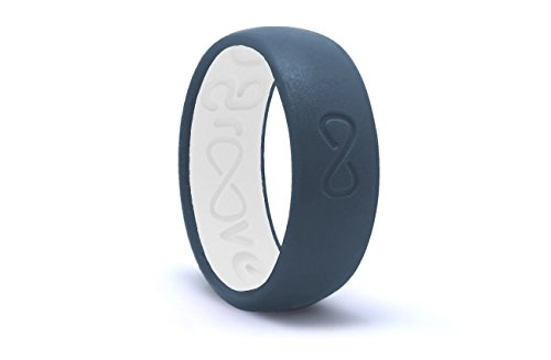 Groove Life - Groove Ring The World's First Breathable Silicone Ring Original (Anchor Blue/Snow White) (Size 10)