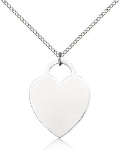 Icecarats Créatrice De Bijoux En Argent Sterling Pendentif Coeur 1 X 3/4 Pouces