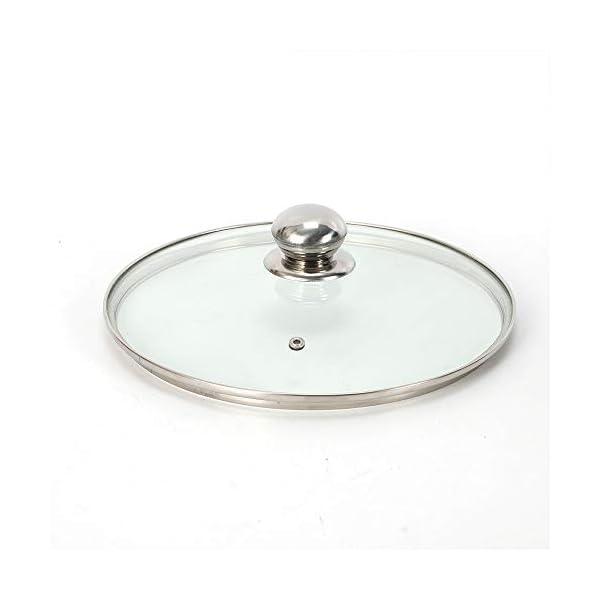 Generic - Pentola a vapore in acciaio INOX, 26 cm, coperchio in vetro, 5 strati con coperchio in vetro 5 spesavip