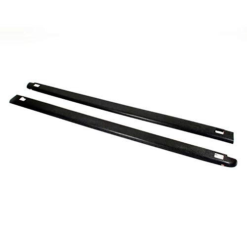 Wade 72-41114 Truck Bed Rail Caps Black Smooth Finish with Stake Holes for 2007-2014 Chevrolet Silverado 1500 Crew Cab Extended Cab with 5.8ft bed (Set of 2) (Rail Liner)