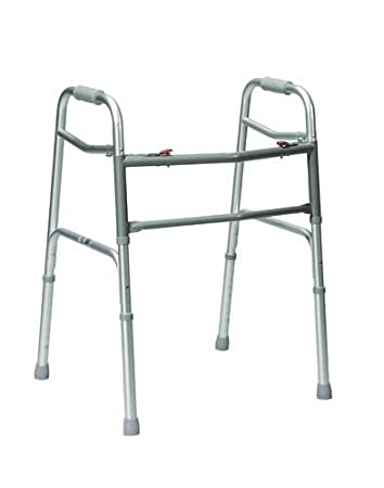Amazon.com: Doble Botón Extra-Wide adulto plegable Walker ...