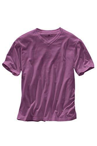 Territory Ahead Mens Casual Soft Cotton V-Neck Short Sleeve T-Shirt Purple -