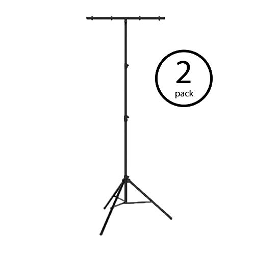Chauvet Tripod - Chauvet DJ CH-03 Portable Heavy Duty Easy Setup T Bar Tripod Truss Light Stand (2 Pack)