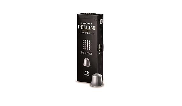 Amazon.com : Nespresso Compatible Capsules - Pellini Luxury Coffee Supremo - 20 Capsules : Grocery & Gourmet Food