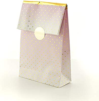 On The Wall Party Bags Premium Pink Ombre and Gold Foil Finish (Pack 8)