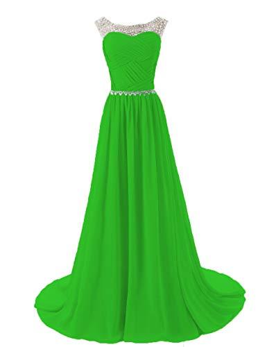 Bridesmaid Strapless Sequin Evening Women's Gown Wtw Formal Party Chiffon Green Dress 29WDHYeIE