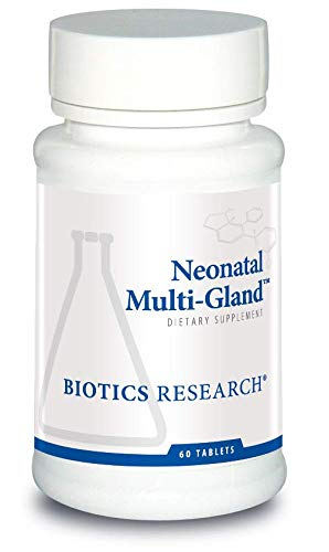 Biotics Research Neonatal Multi-GlandTM - Mixed Organd and Glandular Concentrates. Broad-Spectrum Therapy. Spleen, Heart, Pancreas, Kidney, Brain Liver, Adrenal, Thymus, Pituitary/Hypothalamus 60T