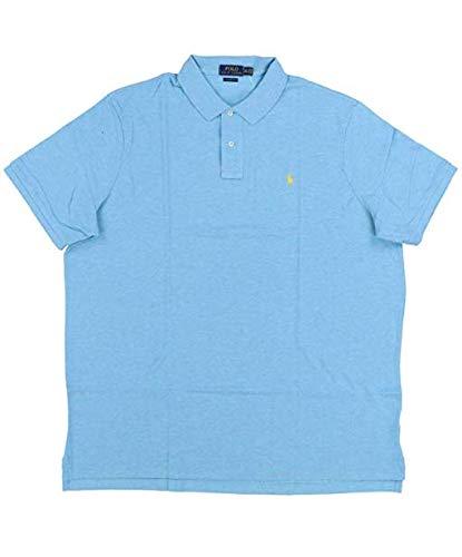 Polo Ralph Lauren Mens Custom Slim Fit Polo Shirt (S, Blue Heather)