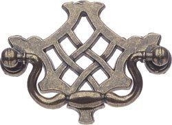 SUKI HARDWARE Antique Brass Drop Handle Furniture Draw Door Knobs Inc Screw (Suki) ()