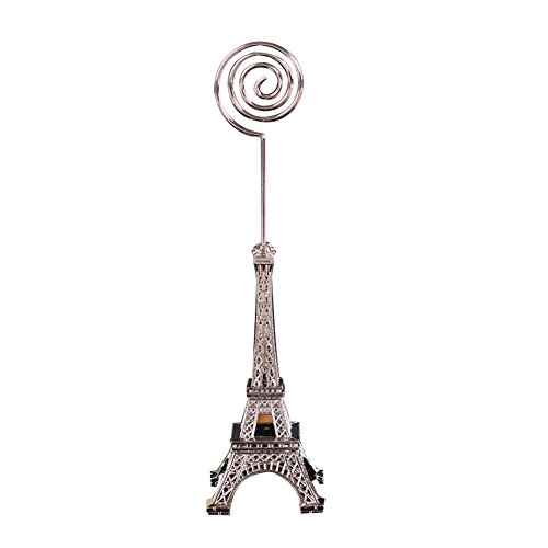 JUNDA Eiffel Tower Style Cards Holders Memo Clips for Notes Messages Clips Photoes Display Tables Names Home Shops Decoration,Pack of 4,Color Random
