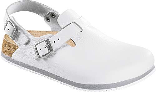 (Birkenstock Tokio Super Grip Natural Leather White size EU 40 / US L9 M7 Regular)