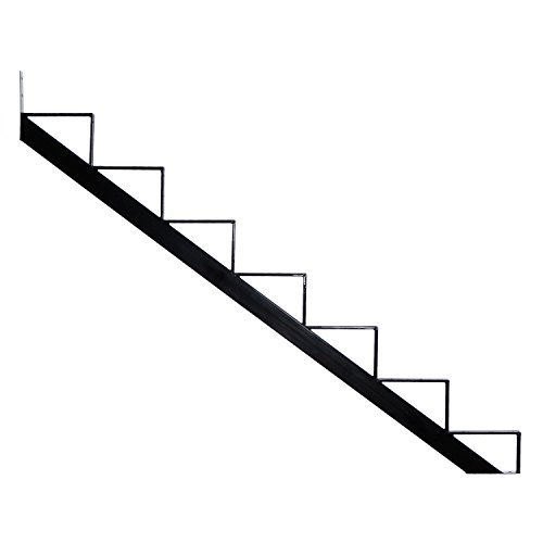 (Pylex 13907 7 Steps Steel Stair Stringers, Black)