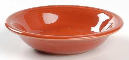 Homer Laughlin Dessert - Homer Laughlin Fiesta-Paprika (Newer) Fruit/Dessert (Sauce) Bowl, Fine China Dinnerware