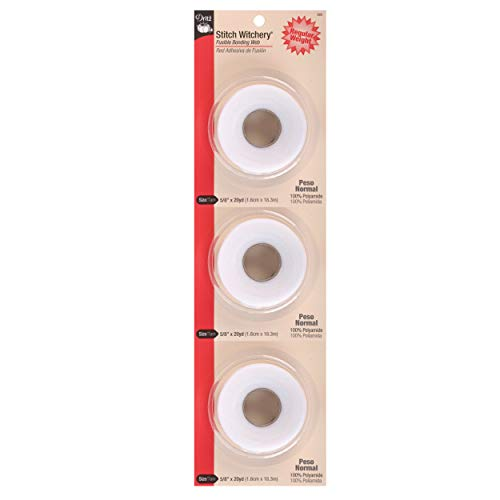 Dritz Stitch Witchery Fuse, 5/8'' x 20 Yards (Pack of 3) ()