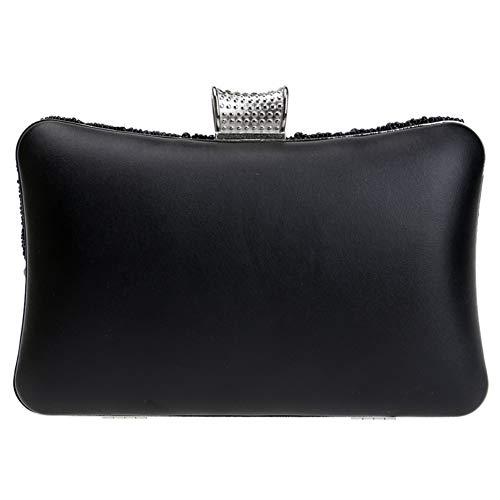 Hombro Para Señoras Bolsas Noche De Del Bolsos Mujer Vestir Boda Embrague Empaqueta Cartera La De De La Elegante Cadena La Negro qtBxA8t