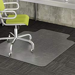 Realspace Wide-Lip Chair Mat for Thin Commercial-Grade Carpets, Advantage, 46''W x 60''D, Clear by Realspace