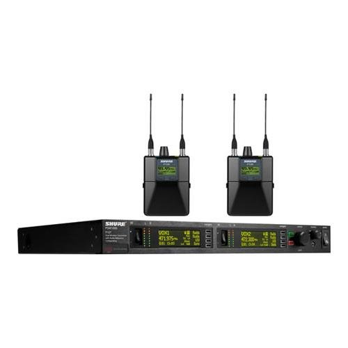 Shure PSM1000 IEM Wireless System - G10 Freq Band / 1 P10T dual-channel transmitter & 2 P10R bodypack receivers