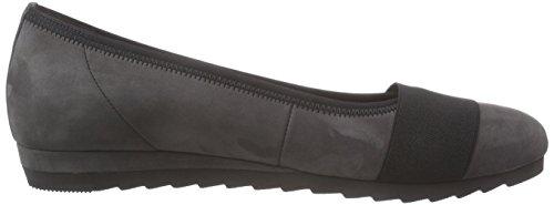 Gabor Shoes Gabor Basic - Zapatos de tacón de piel lisa mujer gris - Grey (grau 19)