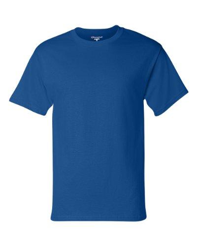 Champion T425 Adult Short-Sleeve T-Shirt Blau