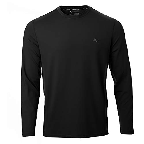 - Arctic Cool Men's Crew Neck Instant Cooling Long Sleeve Shirt Performance Tech Breathable UPF 50+ Sun Protection Moisture Wicking Comfortable Quick Drying Long Sleeve, Cool Black, L