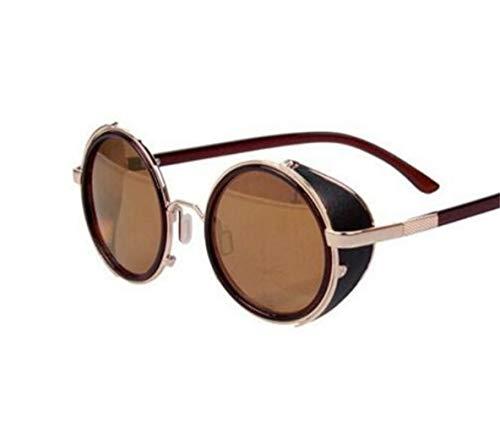 soleil Cadre protection lunettes air Golden Frame de FlowerKui soleil de conduite Lunettes en rond Big rétro UV400 Lunettes de plein Unisexe de nT5nwYqgP
