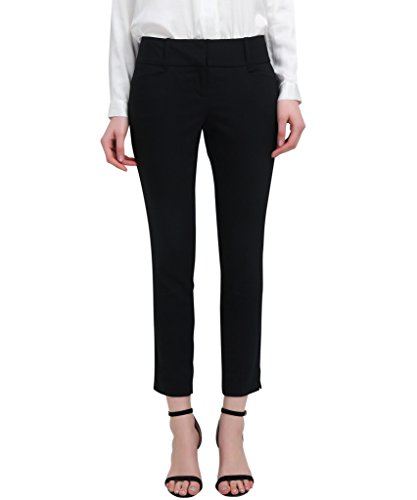 YTUIEKY Capri Pants Women's Outfit - Slim Hip Lifting Elastic Capri Pants for Women Casual Wear Black