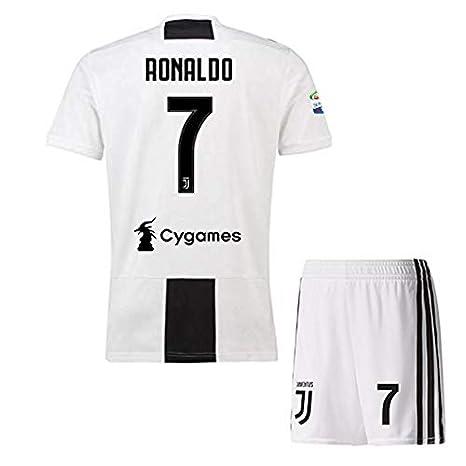 59bdd6e9db7 Ronaldo 7 Printed Juventus Jersey/SERIA A Juventus Football Jersey with  Shorts/