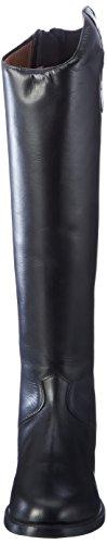 HKM-Botas de equitación Rimini estándar de largo/ancho Negro - negro