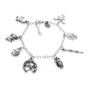 Argent sterling 925Path to Enlightenment 8pièces Bracelet à breloques