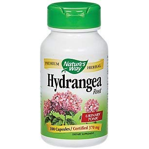 - Nature's Way Hydrangea Root, 370 Milligrams, 100 Vegetarian Capsules. Pack of 1.