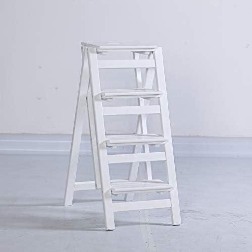 Sillas plegables Escalera de madera Taburete 2/3/4 Pasos Escalera plegable plegable multifunción Escalera de estanterías Casa de la cocina, capacidad de 200 kg (3 tamaños opcional) sillas de camping: Amazon.es: Hogar