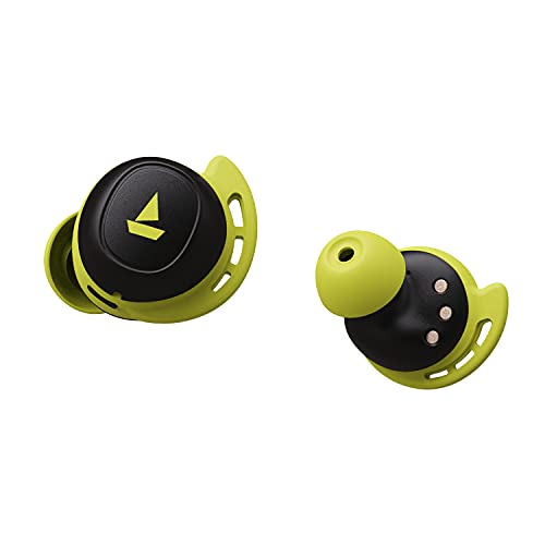 boAt Airdopes 441 TWS Ear-Buds with IWP Technology, Immersive Audio, Up to 30H Total Playback, IPX7 Water Resistance, Super Touch Controls, Secure Sports Fit & Type-C Port(Spirit Lime)