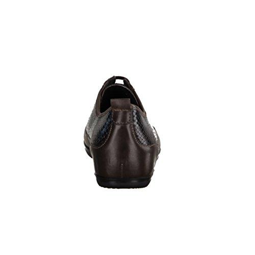 Semler Tara T4209-756- Bequemschuhe/Lose Einlage Damenschuhe Bequeme Schnürschuhe, Braun, Leder (Soft-anilin/pythona), Absatzhöhe: 15 mm